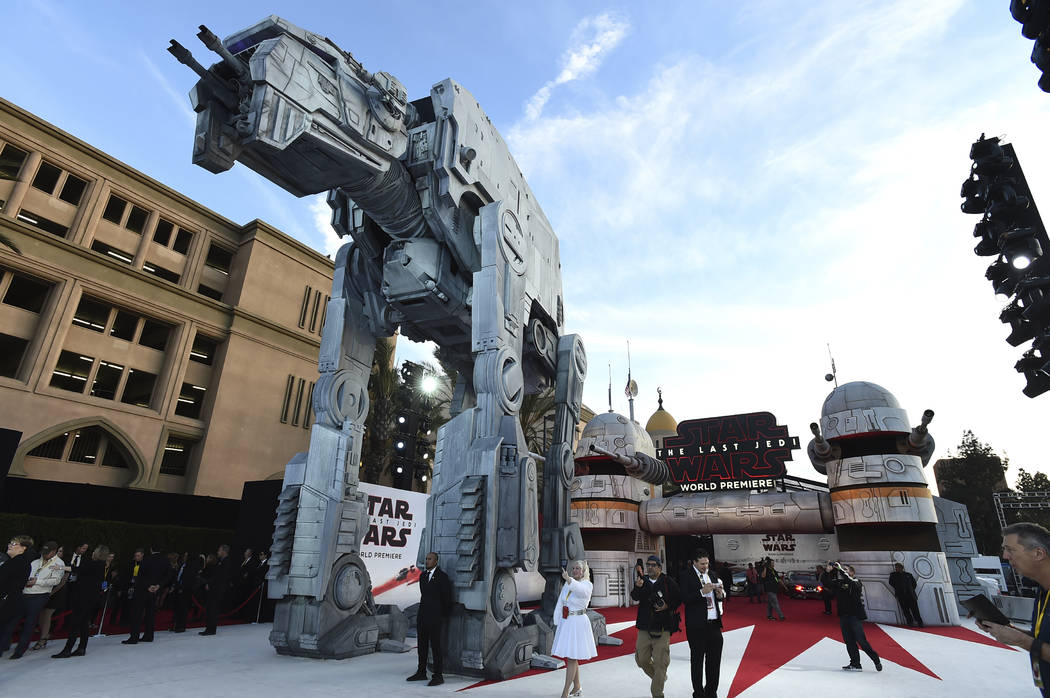 """A general view of atmosphere at the Los Angeles premiere of """"Star Wars: The Last Jedi"""" at the Shrine Auditorium on Saturday, Dec. 9, 2017 in Los Angeles. (Photo by Jordan Strauss ..."""
