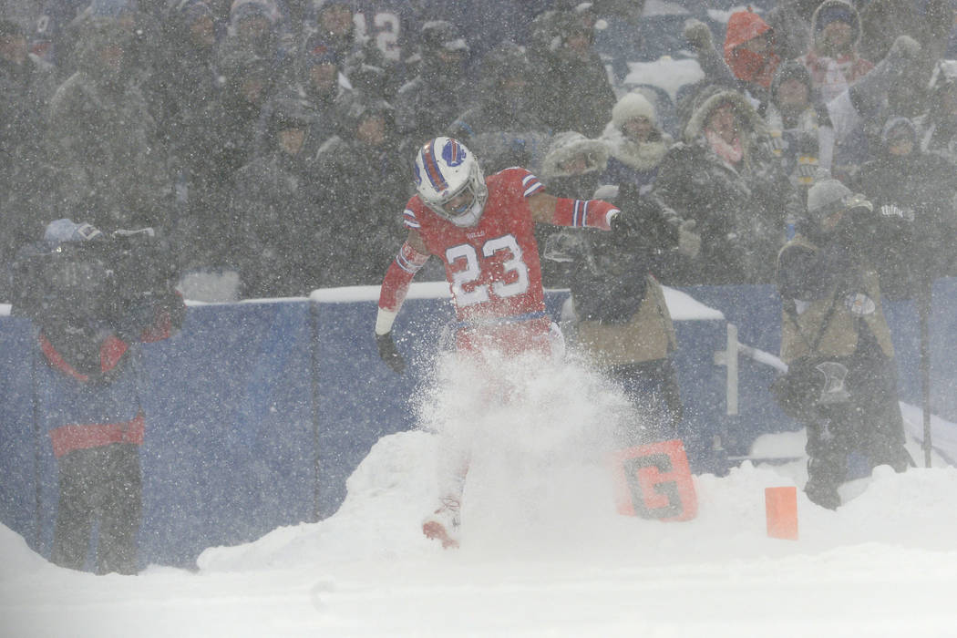 Bills Celebrate Ot Win Over Colts With Snow Angels In Endzone Photos Las Vegas Review Journal