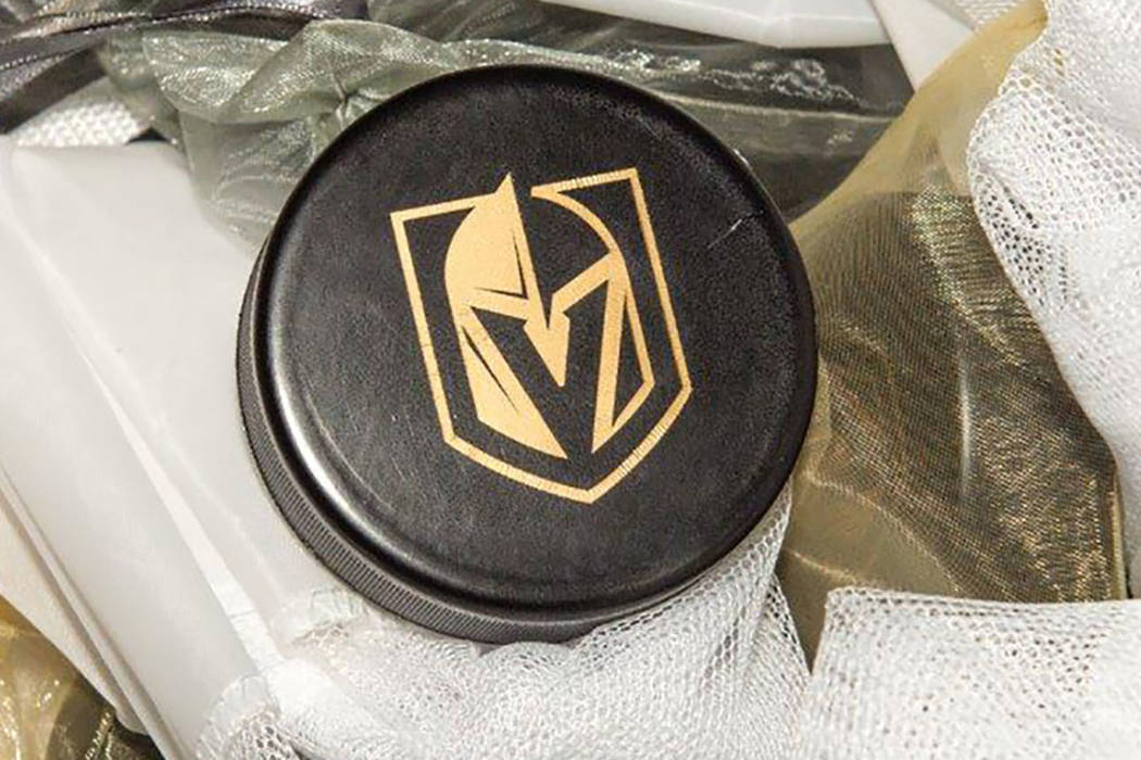 The Vegas Golden Knights team name and logo (Tom Donoghue)