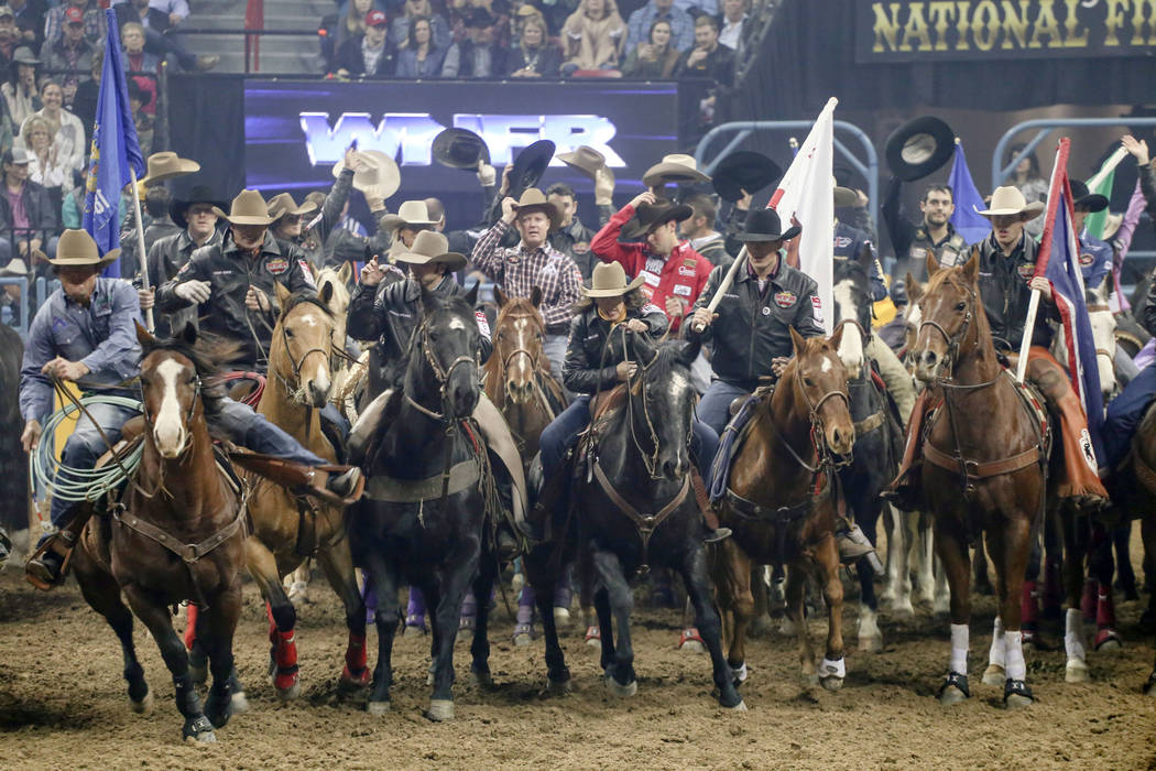 2017 National Finals Rodeo Day 4 Photos Las Vegas