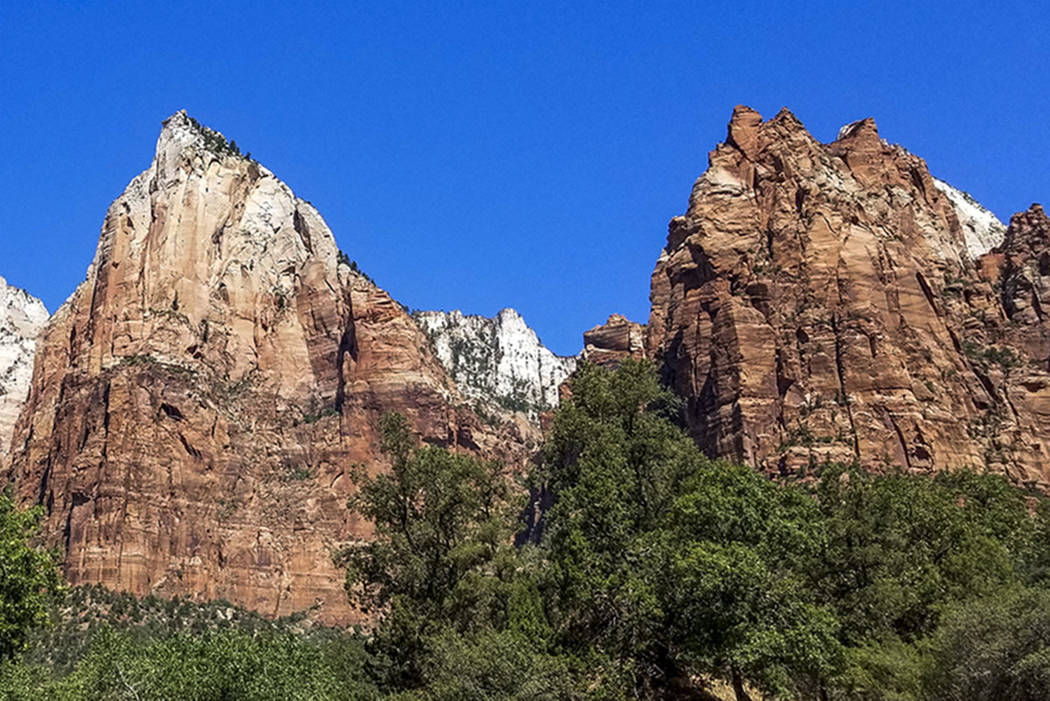The cliffs of Zion National Park in Utah (Las Vegas Review-Journal)