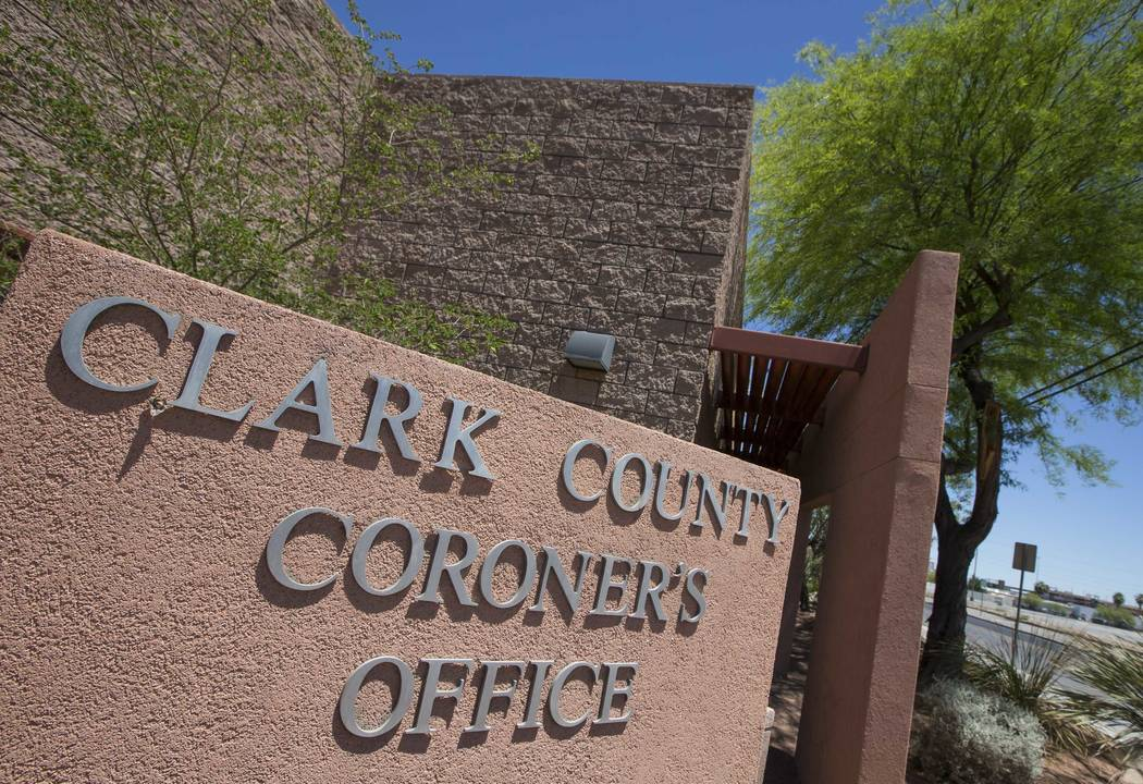 The Clark County Coroner  (Richard Brian/Las Vegas Review-Journal) @vegasphotograph