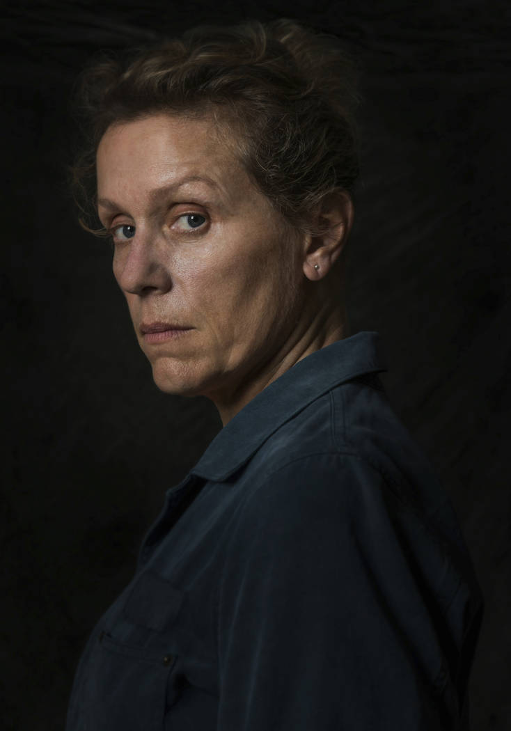 "Frances McDormand from the film ""Three Billboards Outside Ebbing, Missouri."" On Monday, Dec. 11, 2017, McDormand was nominated for a Golden Globe for best actress in a motion picture drama for her ..."