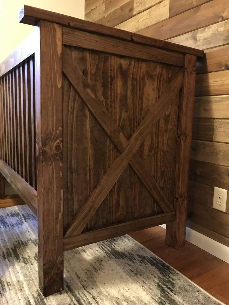 Tim O'Connell showed some fine craftsmanship for a novice woodworker in his efforts to build this crib for son Hazen. O'Connell's wife Sami is due to deliver the baby in March. Tim O'Connell/Speci ...