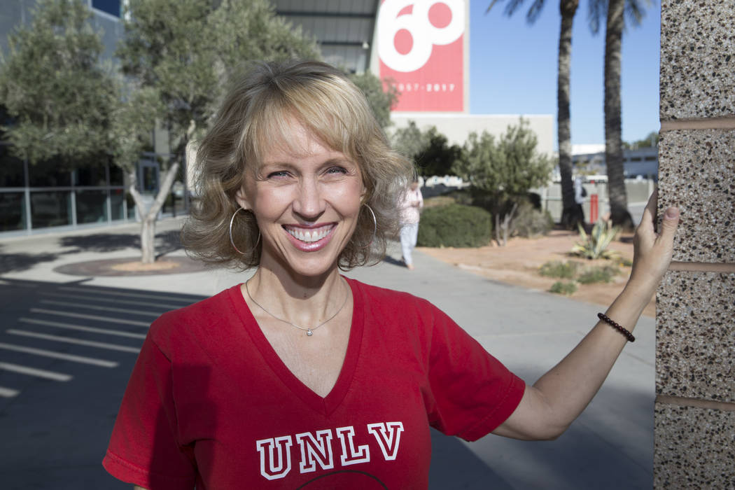 Ellen Fumo, a student at UNLV graduating with a bachelor's degree in psychology, at UNLV in Las Vegas, Wednesday, Dec. 13, 2017. Fumo, 52, is graduating college after taking her first cl ...