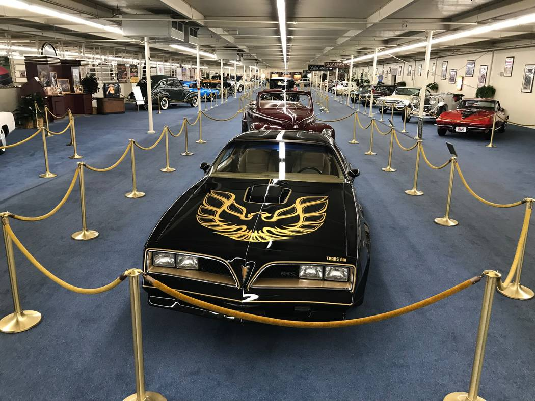 A 1978 Pontiac Trans Am SE on display at The Auto Collections vintage-car museum and store at The Linq hotel-casino in Las Vegas, Tuesday, Dec. 12, 2017. The vintage dealer is closing to the publi ...