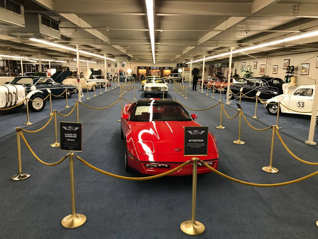 The Auto Collections vintage-car museum and store at The Linq hotel-casino in Las Vegas, Tuesday, Dec. 12, 2017. The vintage dealer is closing to the public Dec. 30, according to General Manager a ...