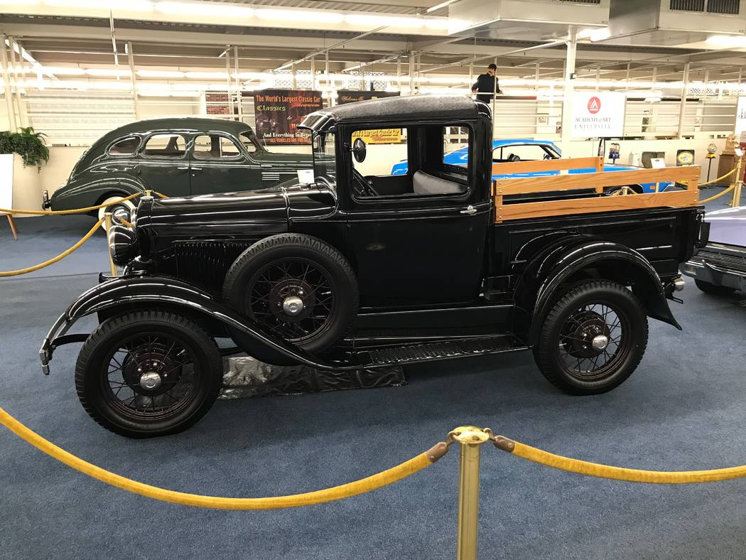 A 1930 Ford closed cab pickup on display at The Auto Collections vintage-car museum and store at The Linq hotel-casino in Las Vegas, Tuesday, Dec. 12, 2017. The vintage dealer is closing to the pu ...