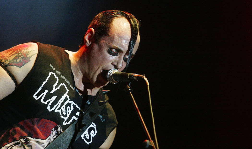 U.S. singer and bassist Jerry Only  performs with his horror punk band The Misfits, at the Azkena Rock Festival, in Vitoria, September 1, 2006.   REUTERS/Vincent West  (SPAIN) - GM1DTKEEYYAA