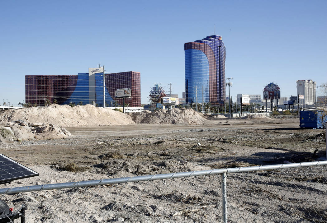 The construction site of a mixed-use project at 3883 Flamingo Road next to the Palms, Friday, Dec. 15, 2017, in Las Vegas. Bizuayehu Tesfaye Las Vegas Review-Journal @bizutesfaye