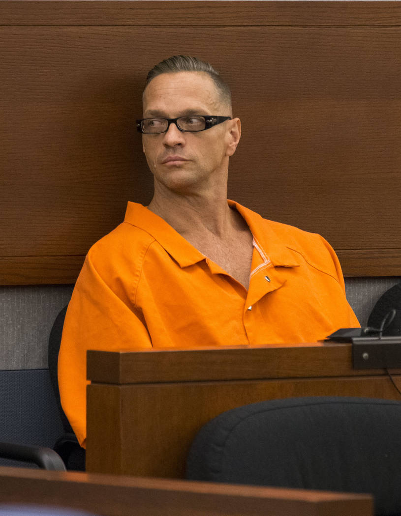 Death row inmate Scott Dozier appears before District Judge Jennifer Togliatti during a hearing at the Regional Justice Center on Monday, Sept. 11, 2017, in downtown Las Vegas. Richard Brian Las V ...