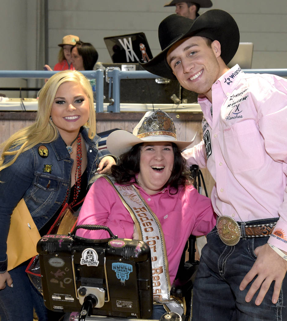 Special needs children experience the world of rodeo with Wrangler NFR contestants, announcers, personnel and even Miss Rodeo America at The Exceptional Rodeo during Cowboy Christmas at the Las Ve ...