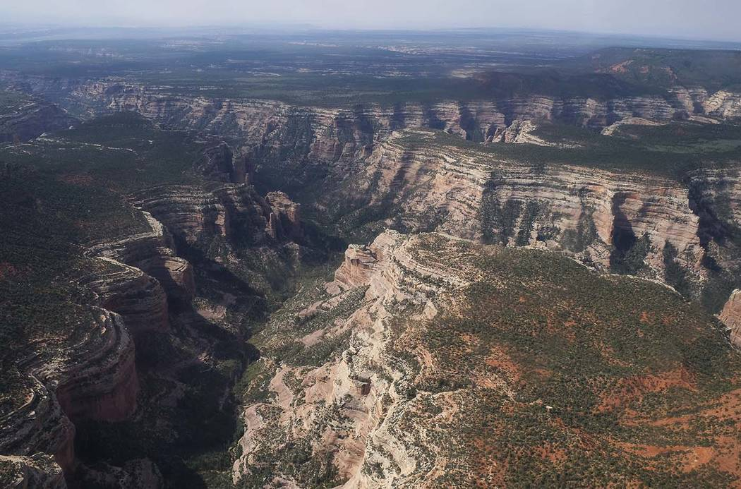 Arch Canyon within Bears Ears National Monument in Utah on May 8. Outdoor clothing giant Patagonia and other retailers have jumped into a legal and political battle over President Donald Trump's p ...