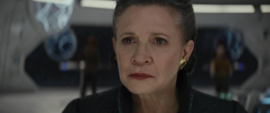 """Gen. Leia (Carrie Fisher) in """"Star Wars: The Last Jedi."""" (Lucasfilm Ltd.)"""