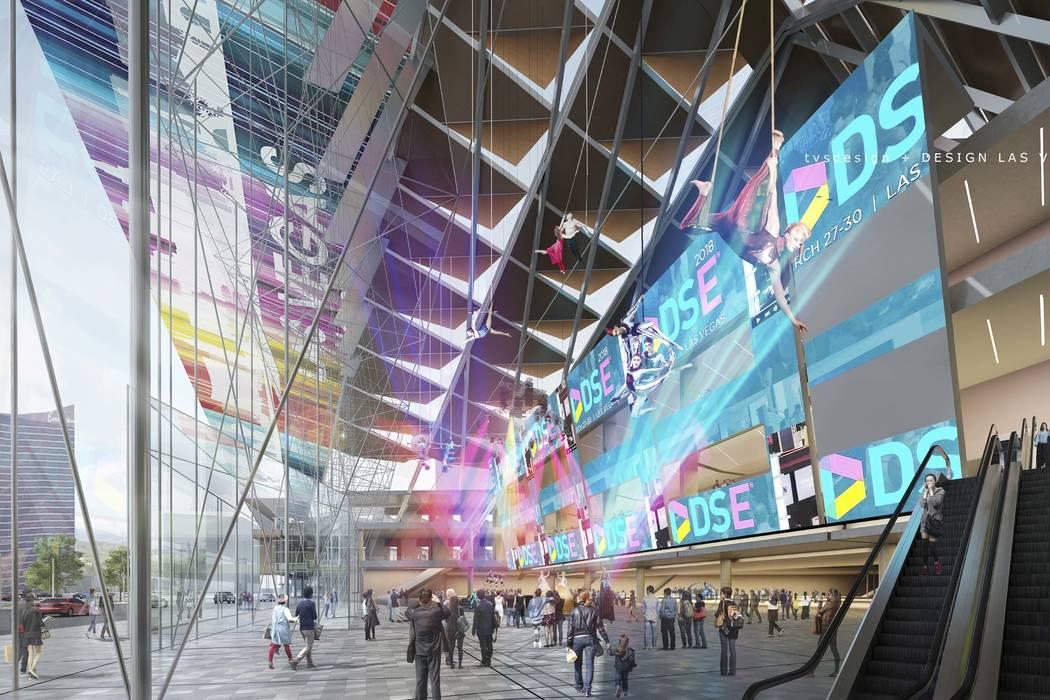 A conceptual rendering of the Las Vegas Convention Center District Phase Two Expansion. (TVS Design/Design Las Vegas)