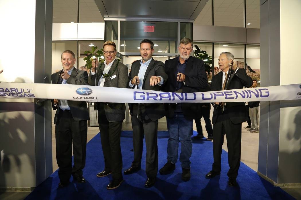 Yujiro Otsuki Photography The newly built Subaru of Las Vegas dealership recently presented its grand opening at 6455 Roy Horn Way at Rainbow Boulevard and the 215 Beltway. Shown cutting the ribbo ...