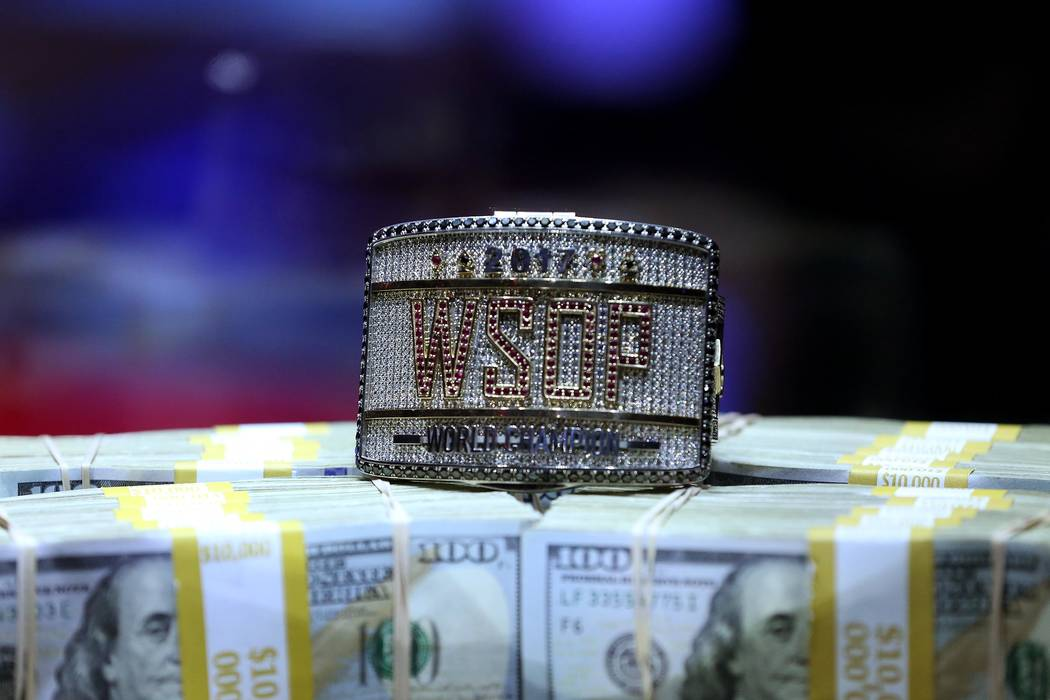 The final night of the World Series of Poker final table takes place at the Rio Convention Center in Las Vegas on Saturday, July 22, 2017.  Bridget Bennett Las Vegas Review-Journal @bridgetkbennett