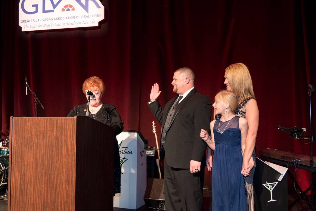 2018 Greater Las Vegas Association of Realtors President Chris Bishop is sworn in to office. (Greater Las Vegas Association of Realtors)