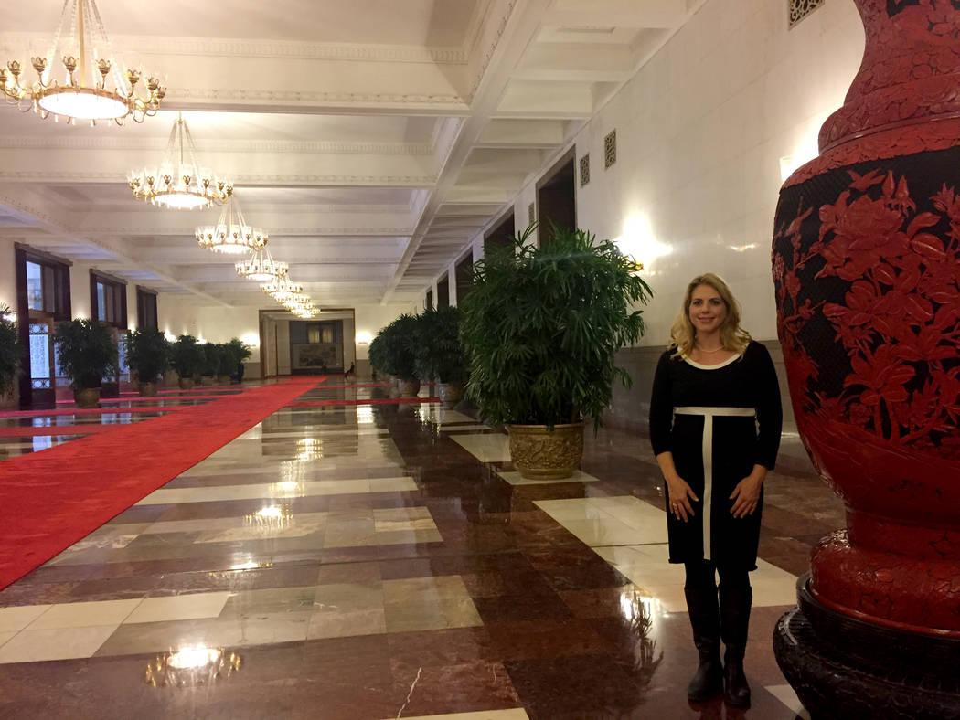 Jessica Stone, a White House correspondent with CGTN America, in Beijing. (Jessica Stone)