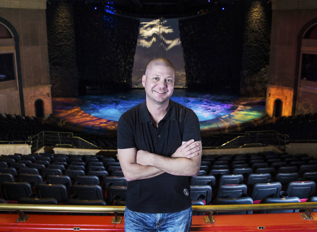 "Brian Bernstein, head of performance science for Cirque du Soleil, at the ""O"" Theater on Friday, Dec. 15, 2017, at the Bellagio hotel-casino , in Las Vegas. Benjamin Hager Las Vegas Review-Journal ..."