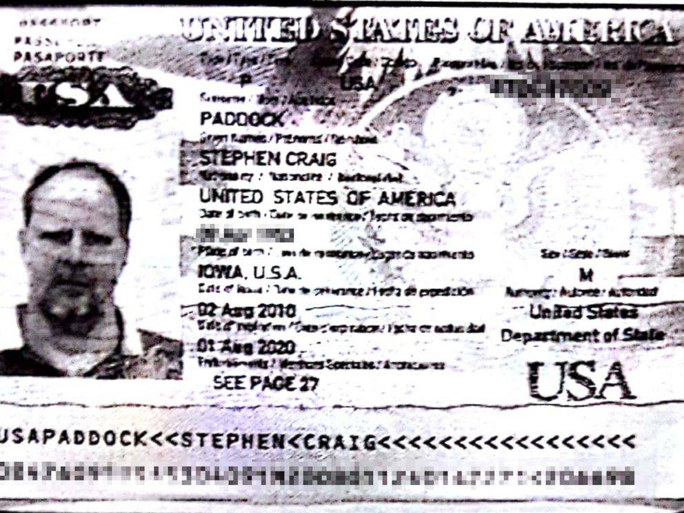 Stephen Paddock passport photo. ABC News