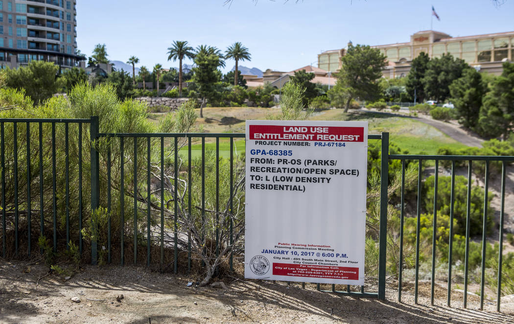 The 250-acre site of the closed Badlands golf course is now slated for the development of condos, estate lots and a hotel. (Patrick Connolly/Las Vegas Review-Journal) @PConnPie