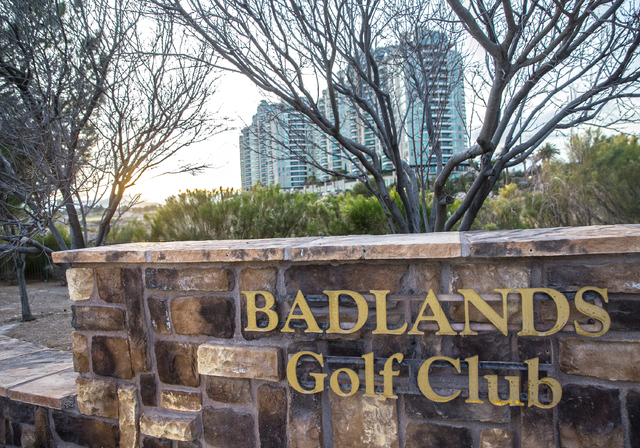 The proposed development of the Badlands golf course has prompted a more than year-long fight between the developer and neighboring residents, including One Queensridge Place. (Benjamin Hager/Las  ...