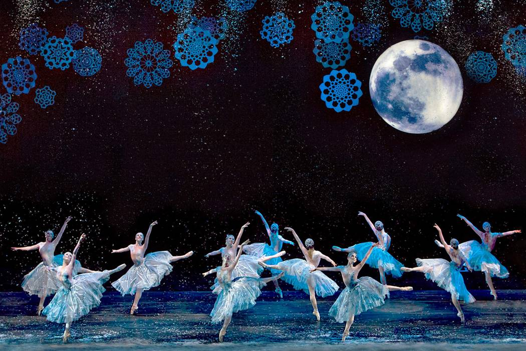 "Snow scene from the Nevada Ballet Theatre's ""Nutcracker"" (Virginia Trudeau Photography)"