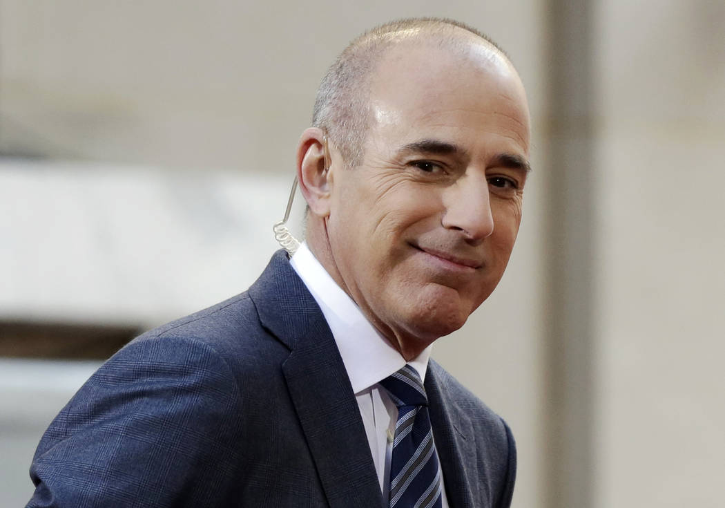 """In this April 21, 2016, file photo, Matt Lauer, co-host of the NBC """"Today"""" television program, appears on set in Rockefeller Plaza in New York. Lauer was one of the top searches on Google in 2017. ..."""