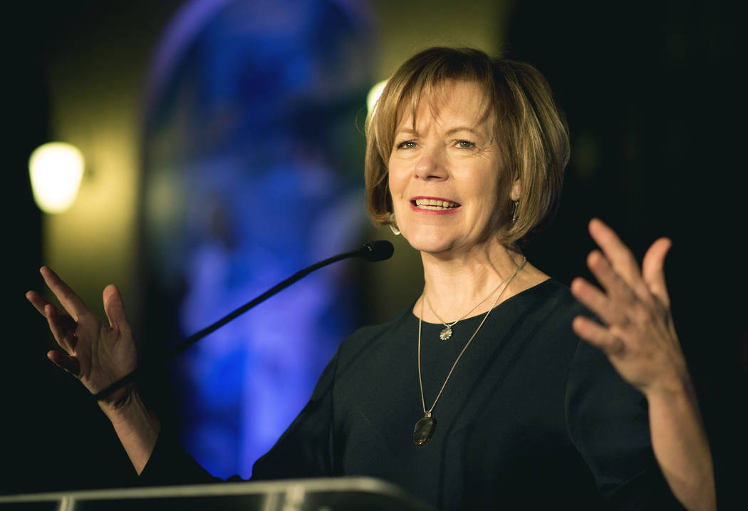 Minnesota Lt. Gov. Tina Smith is a possible replacement to fill U.S. Sen. Al Franken's seat after he announced his resignation amid multiple sexual misconduct allegations Thursday, Dec. 7, 2017, o ...