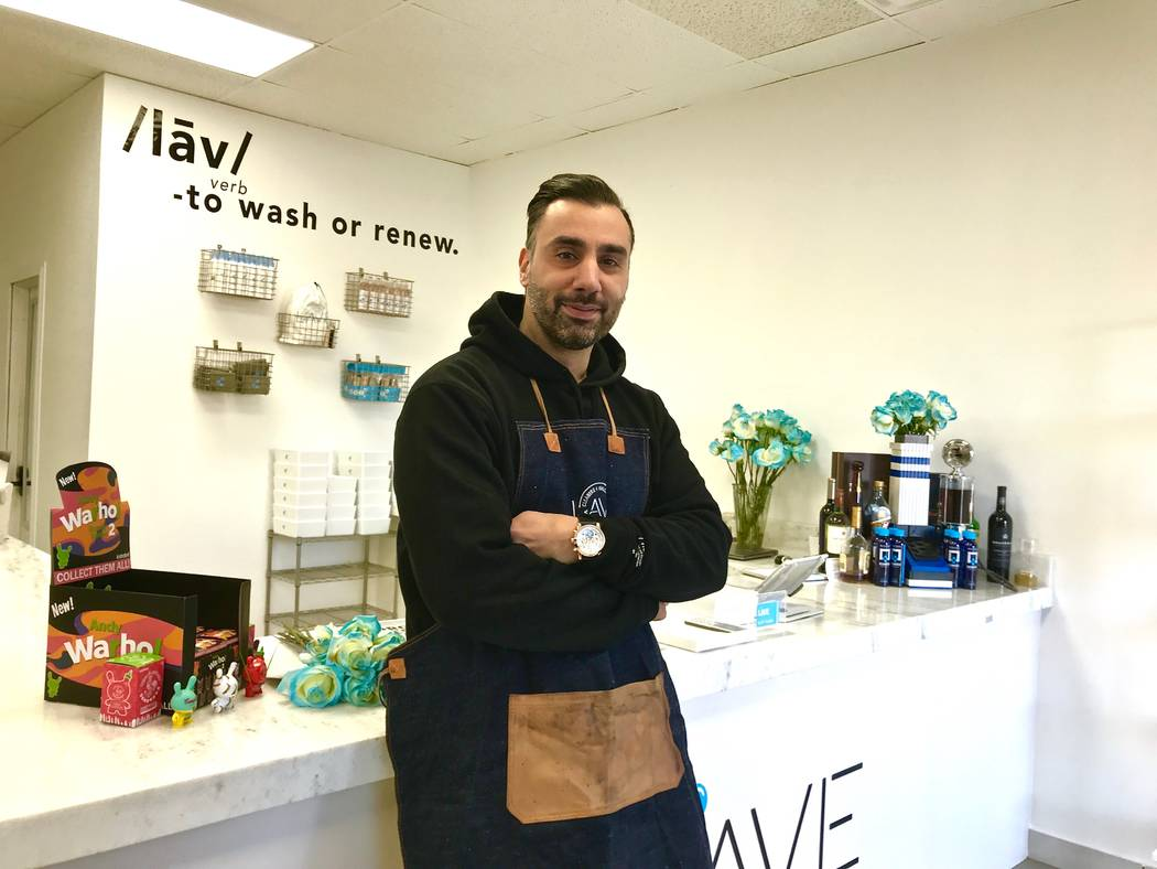 Founder Jesse Babico at The Lave Gallery at 3533 S. Valley View Blvd. in Las Vegas, Tuesday, Dec. 12, 2017. (Madelyn Reese/View @MadelynGReese)
