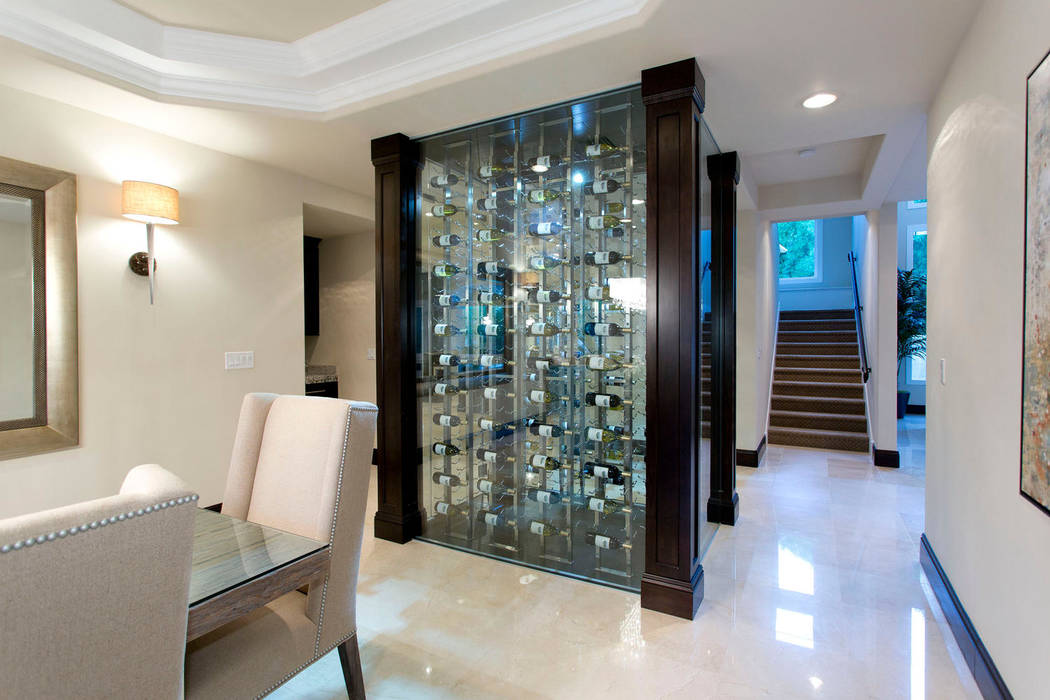 Wine walls are trending in luxury home decore. (Luxury Designer)