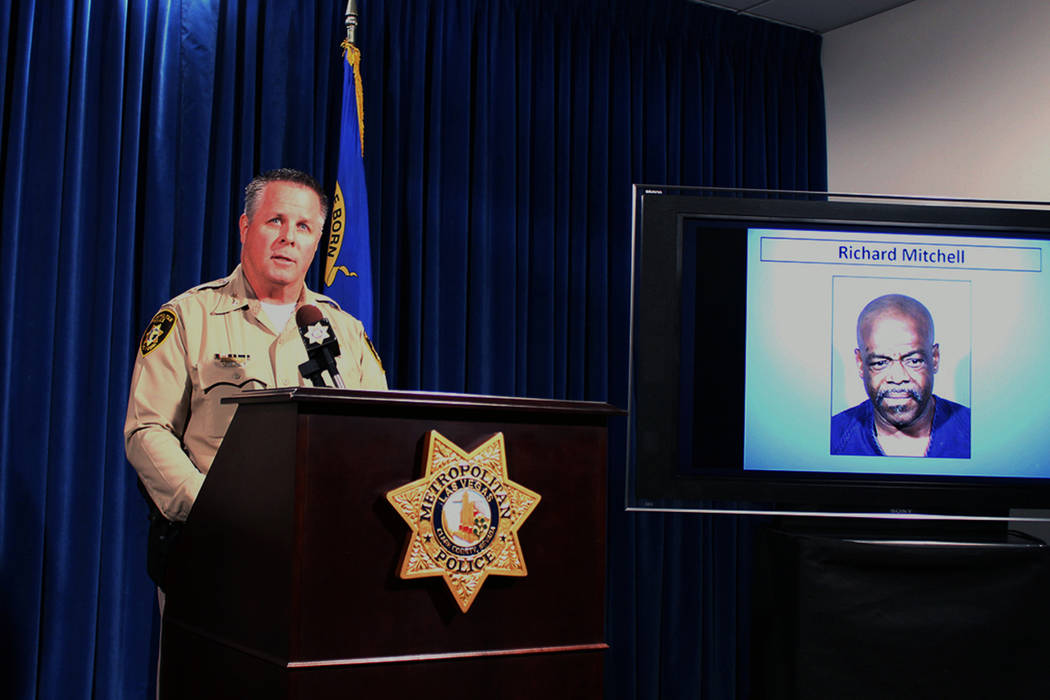 Metropolitan Police Department Assistant Sheriff Todd Fasulo briefs reporters on Wednesday, Dec. 13, 2017, on an officer-involved shooting that injured Richard Mitchell, 54. Briana Erickson Las Ve ...