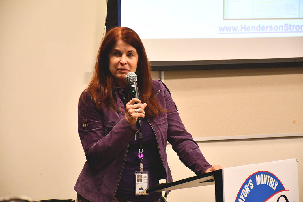 Henderson Mayor Debra March hosted her March On community event on Tuesday night. March, who was sworn in in June launched a series of monthly community meetings which highlight different topics.  ...