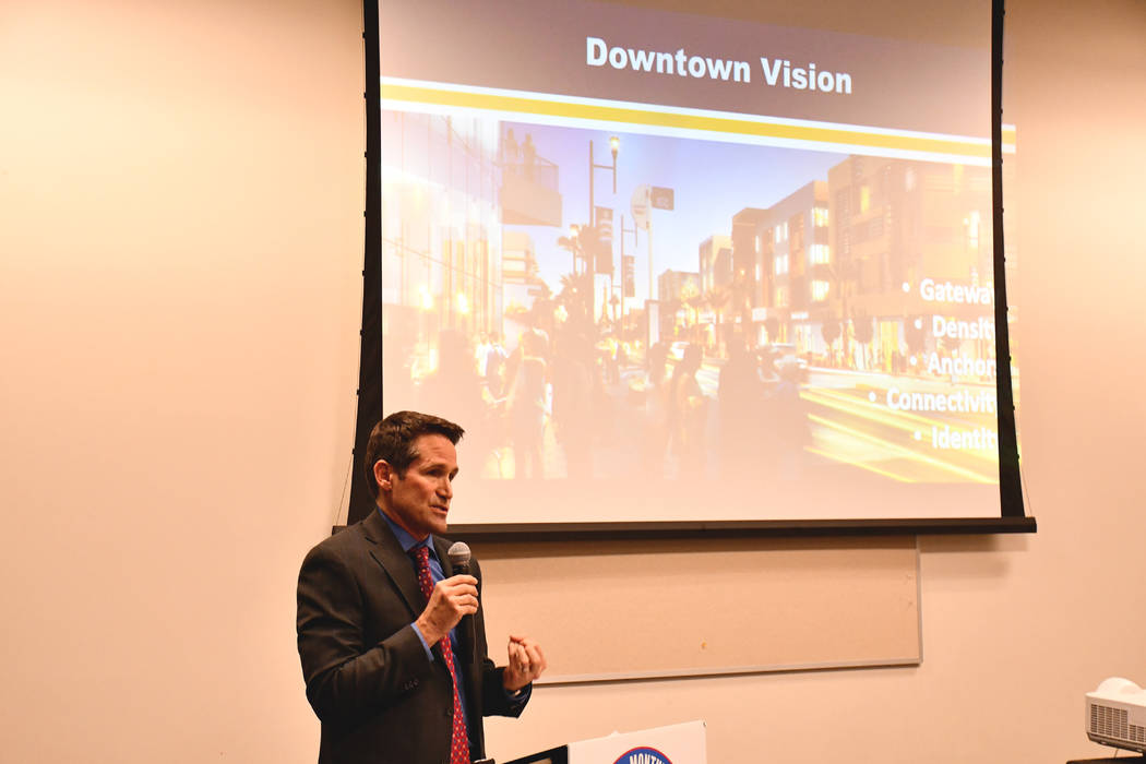 Henderson Redevelopment Manager Mark Hobaica talked about new projects and Water Street, and shared details on how some of the ideas from the citywide plan get implemented in specific redevelopmen ...
