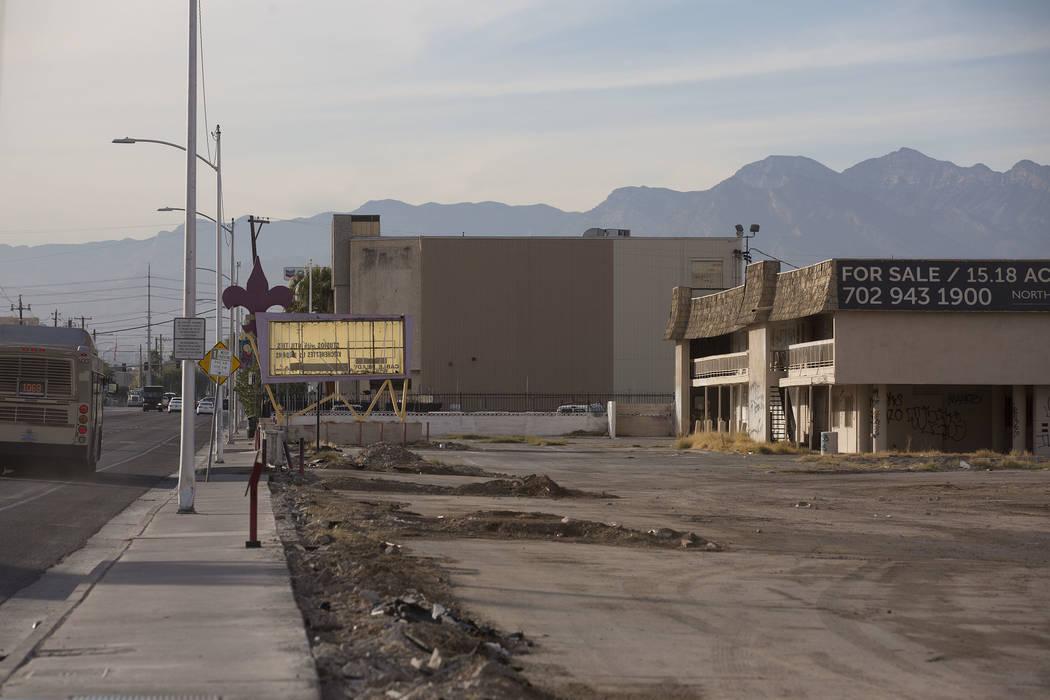 The remains of the Moulin Rouge hotel-casino in Las Vegas, Tuesday, Nov. 21, 2017. Bridget Bennett Las Vegas Review-Journal @BridgetKBennett