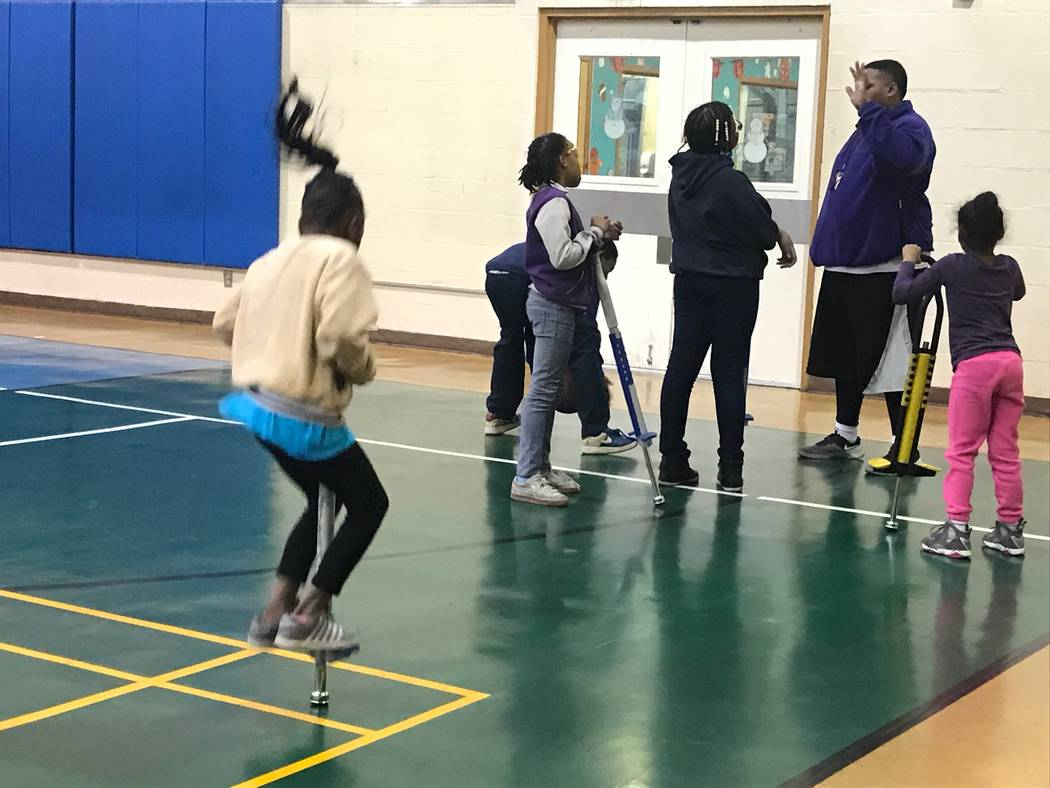 Rec N Roll participants play in the gym on Dec. 12, 2017 at the Neighborhood Recreation Center, 1638 N Bruce Street. (Kailyn Brown/View) @KailynHype