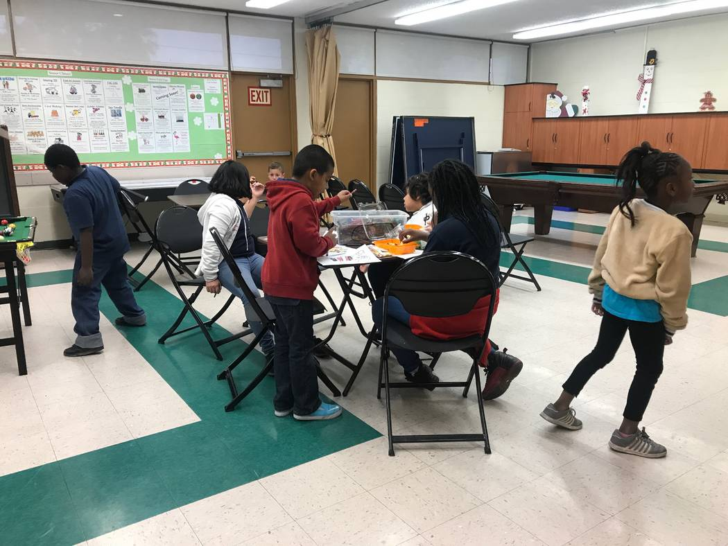 Rec N Roll participants play in the game room on Dec. 12, 2017 at the Neighborhood Recreation Center, 1638 N Bruce Street. (Kailyn Brown/View) @KailynHype