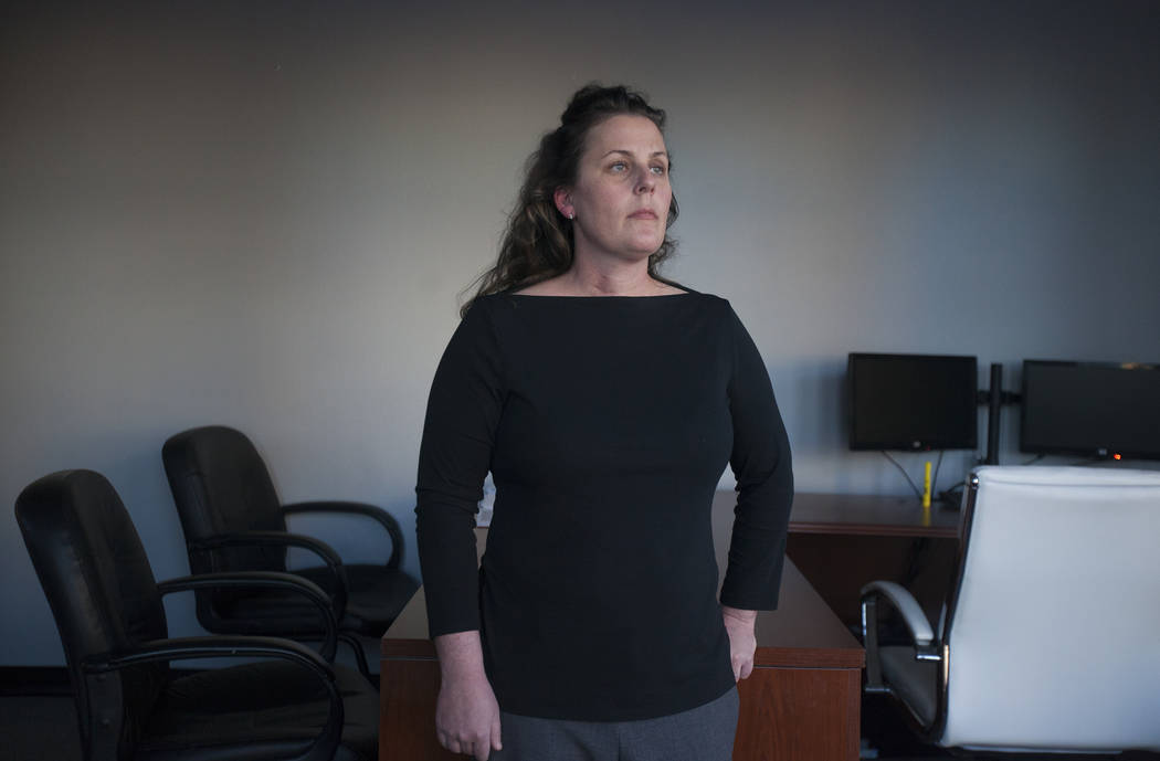 Diana Goodsell at the Callister Law Group offices in Las Vegas, Tuesday, Dec. 12, 2017. (Rachel Aston Las Vegas Review-Journal)