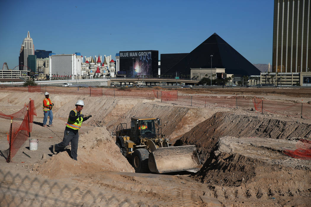 The scene at the Raiders stadium site in Las Vegas, Tuesday, Dec. 12, 2017. Erik Verduzco Las Vegas Review-Journal @Erik_Verduzco