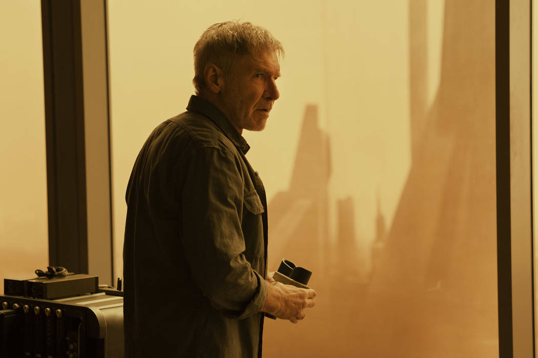"""Harrison Ford as Rick Deckard in Alcon Entertainment's action thriller """"Blade Runner 2049,"""" a Warner Bros. Pictures and Sony Pictures Entertainment release, domestic distribution ..."""
