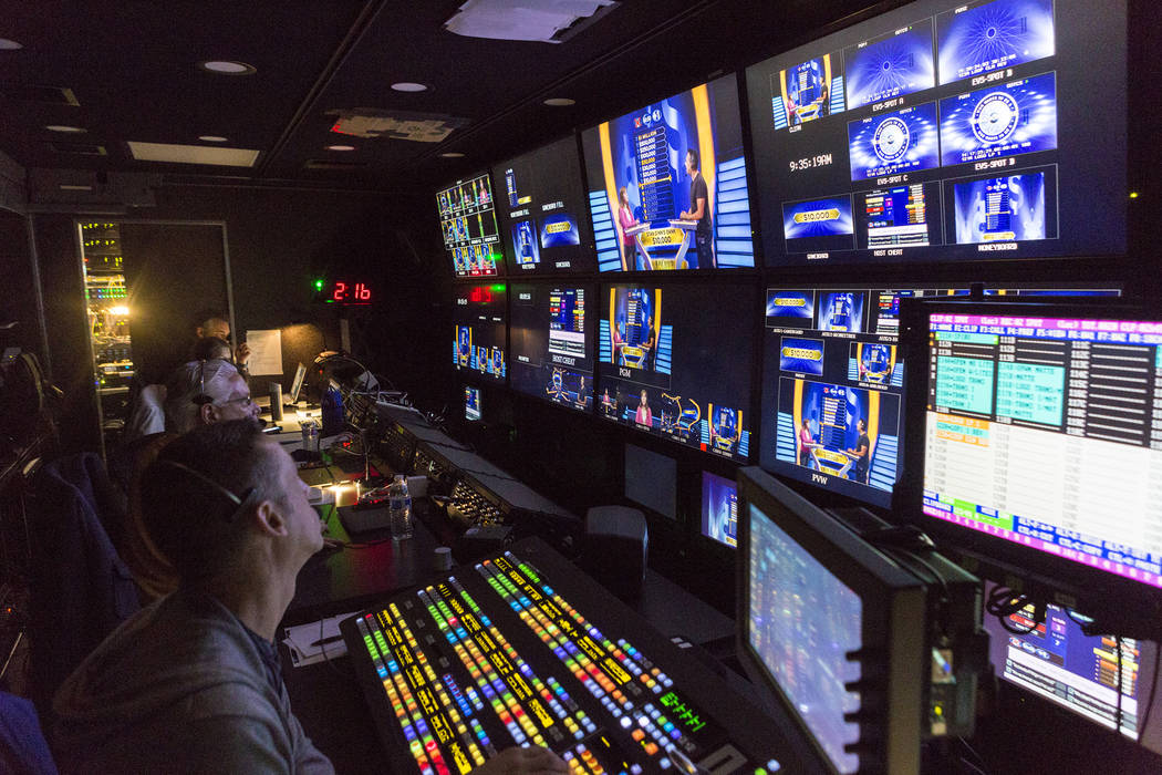 Production practice of Who Wants To Be A Millionaire during a tour of the new Caesars Entertainment Studios in Las Vegas, Thursday, June 29, 2017. Elizabeth Brumley Las Vegas Review-Journal