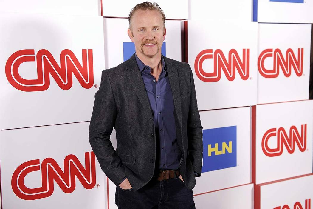"Morgan Spurlock of the CNN series ""Inside Man"" poses at the CNN Worldwide All-Star Party, on Friday, Jan. 10, 2014, in Pasadena, Calif. (Chris Pizzello/Invision/AP)"