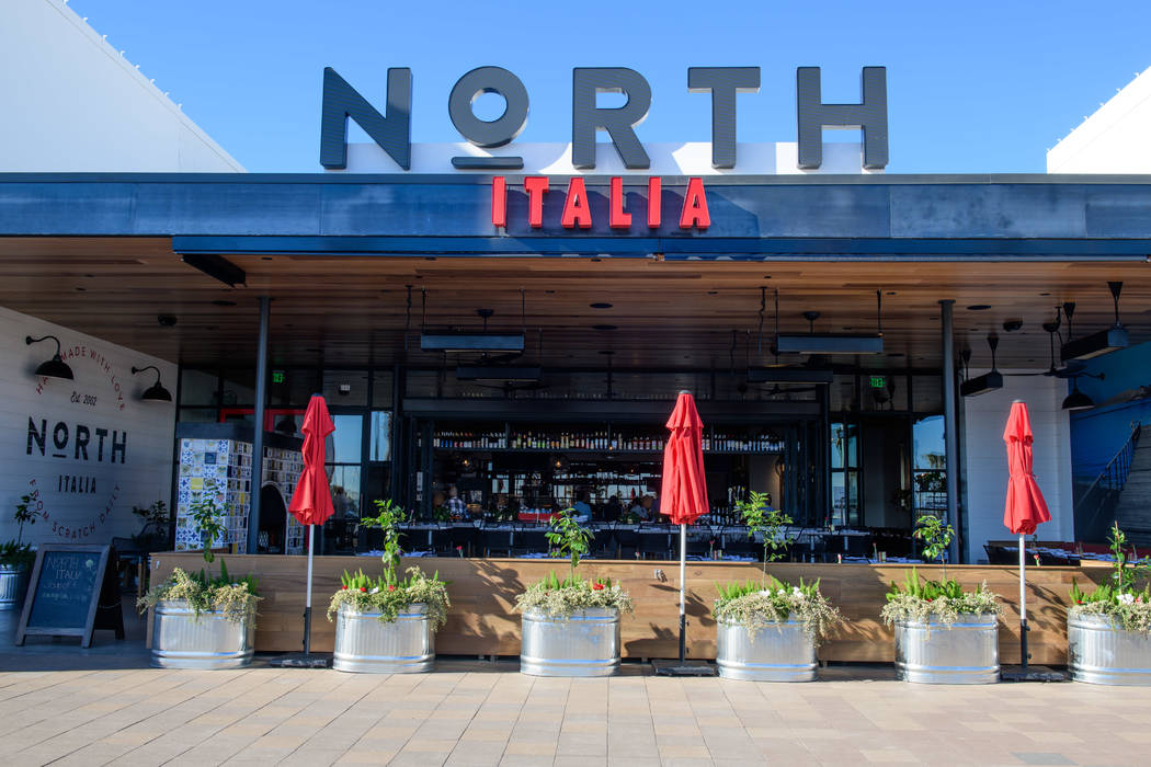 North Italia is seen Dec. 9, 2017, the newest addition to Rampart Commons on the corner of Rampart and Charleston boulevards.