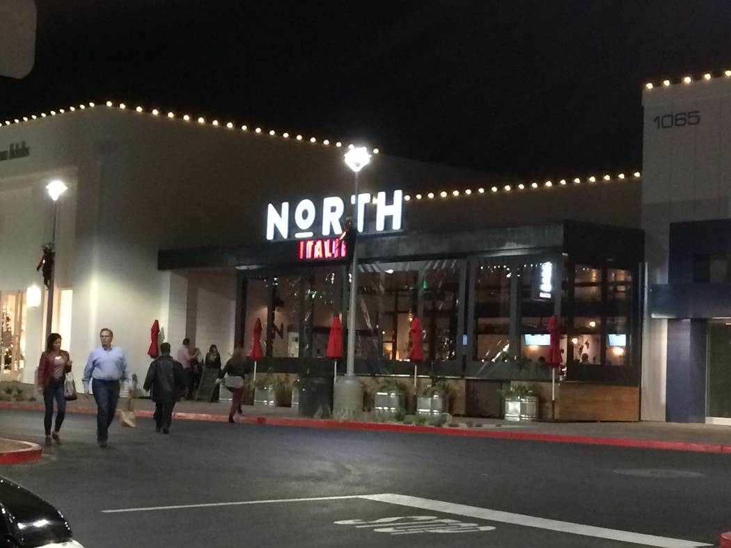 Exterior of North Italia in Rampart Commons is seen Dec. 9, 2017. The menu brings hand-crafted dishes to the Summerlin area, eschewing  the typical Italian restaurant's offerings.