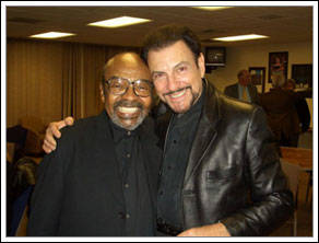 Saxophonist James Moody, left and reedist Jimmy Mulidore, right. (Courtesy)