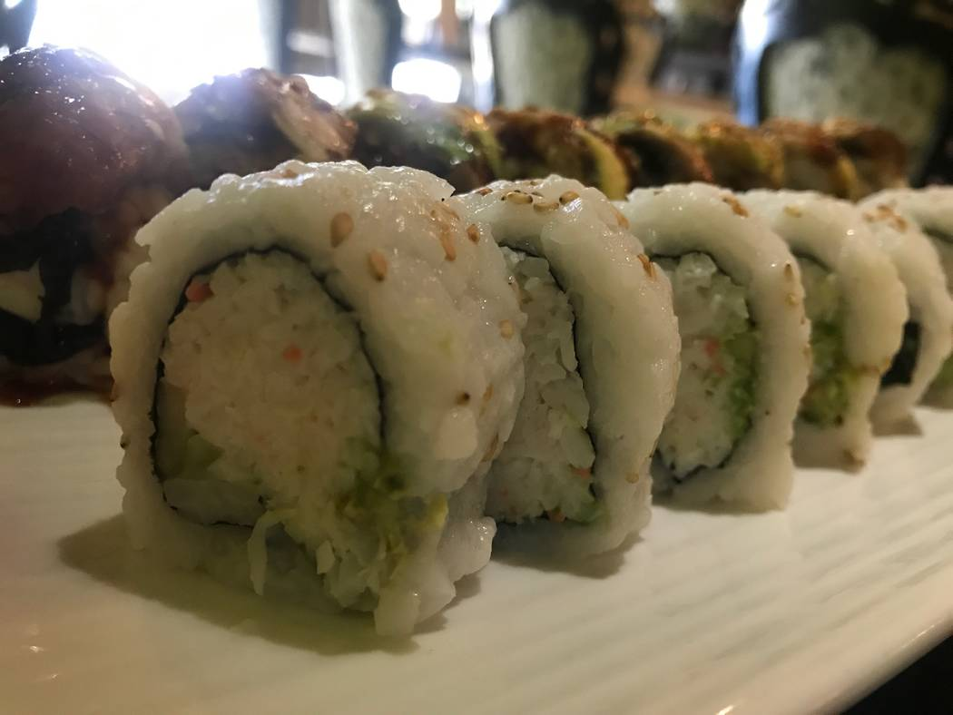 A California roll is served on Dec. 14, 2017 at Thai Basil, 2696 W. Ann Road. (Kailyn Brown/View)