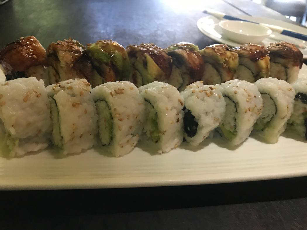 California roll and dragon rolls are served on Dec. 14, 2017 at Thai Basil, 2696 W. Ann Road. (Kailyn Brown/View)