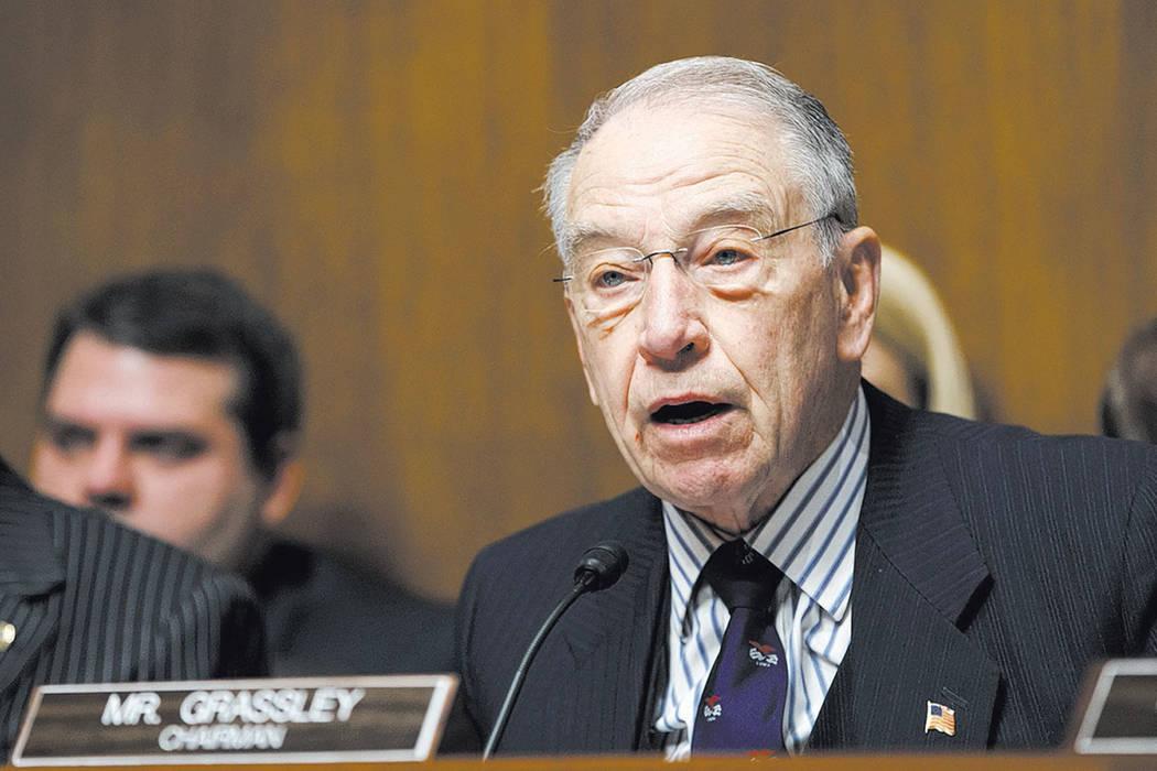 Senate Judiciary Committee Chairman Sen. Chuck Grassley, R-Iowa speaks on Capitol Hill in Washington. (AP Photo/J. Scott Applewhite, File)