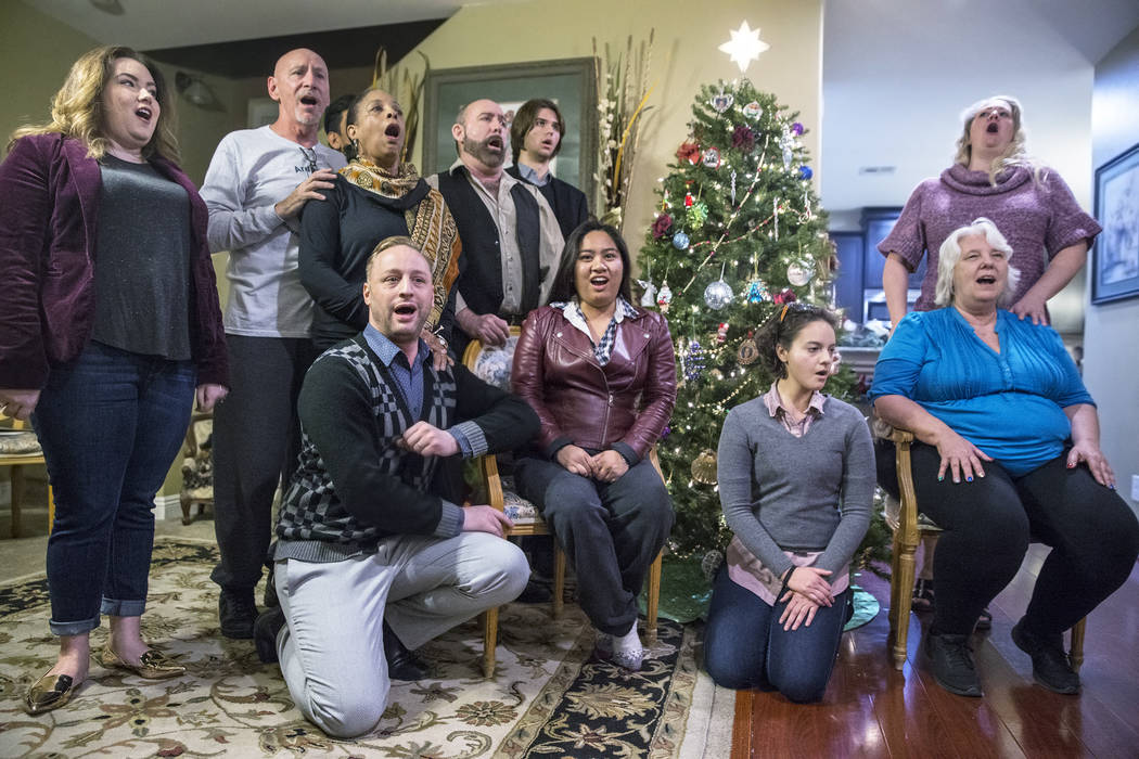 """The Sin City Opera rehearses for their upcoming concert """"Christmas at the Opera"""" on Monday, Dec. 11, 2017, in Las Vegas. Benjamin Hager Las Vegas Review-Journal @benjaminhphoto"""